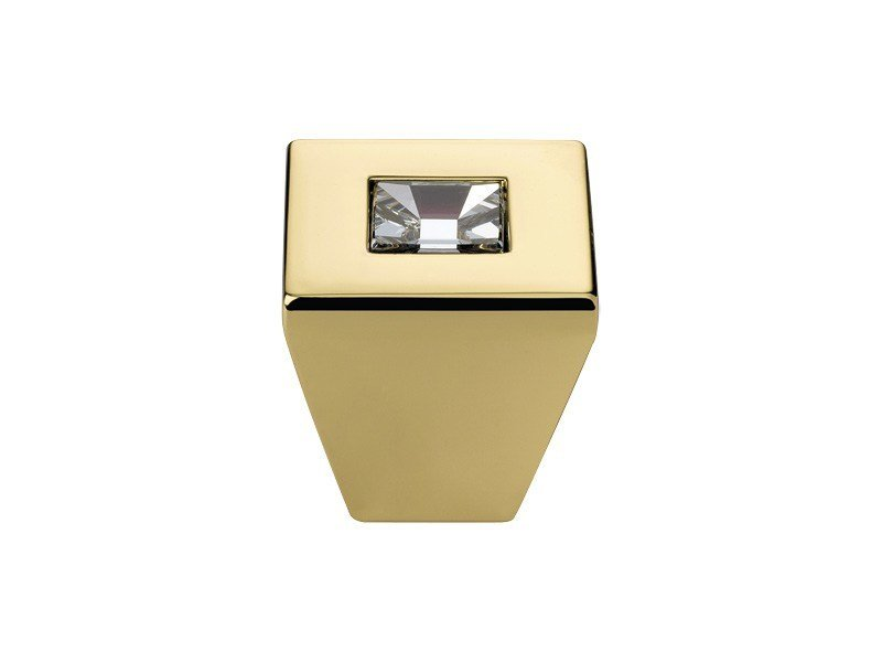 Contemporary style brass Furniture knob with Swarovski® Crystals REFLEX | Furniture knob with Swarovski® Crystals by LINEA CALI'