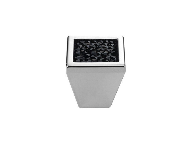 Contemporary style brass Furniture knob with Swarovski® Crystals ROCKS   Furniture knob with Swarovski® Crystals by LINEA CALI'
