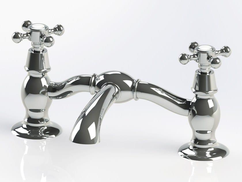 2 hole countertop brass washbasin tap RL1013 | Washbasin tap by BLEU PROVENCE