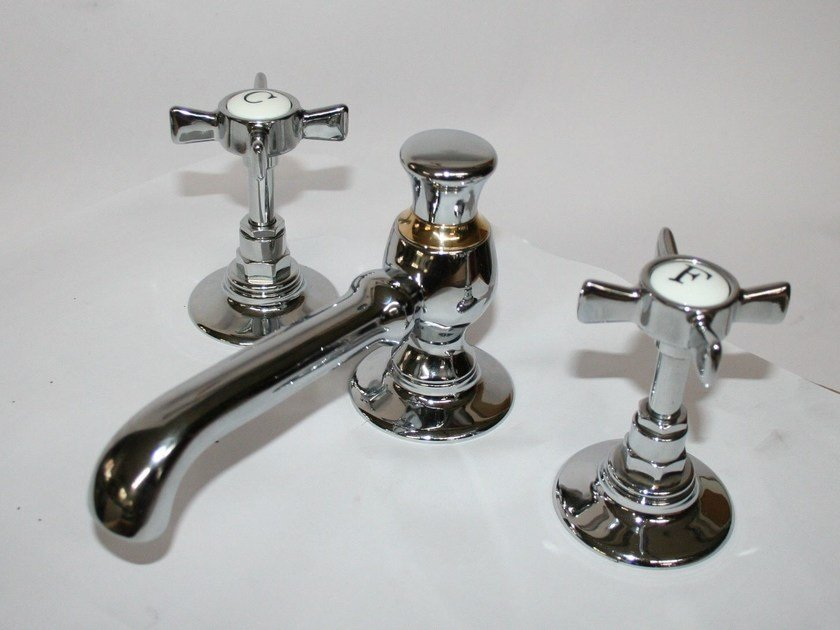 3 hole brass washbasin tap RL1031 | Washbasin tap by BLEU PROVENCE