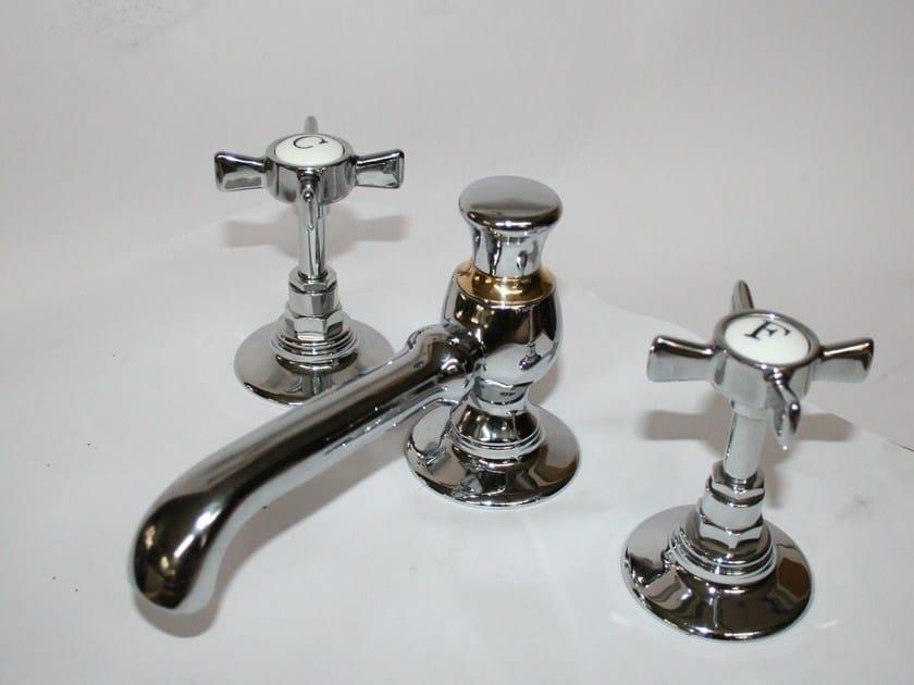 3 hole countertop brass bidet tap RB1081 | Bidet tap by BLEU PROVENCE