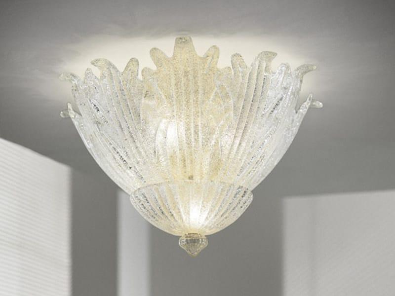 Glass ceiling lamp ROMANZA PL 30F by Vetreria Vistosi