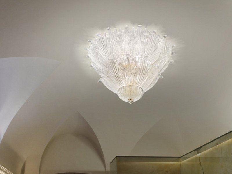 Glass ceiling lamp ROMANZA PL 10F by Vetreria Vistosi