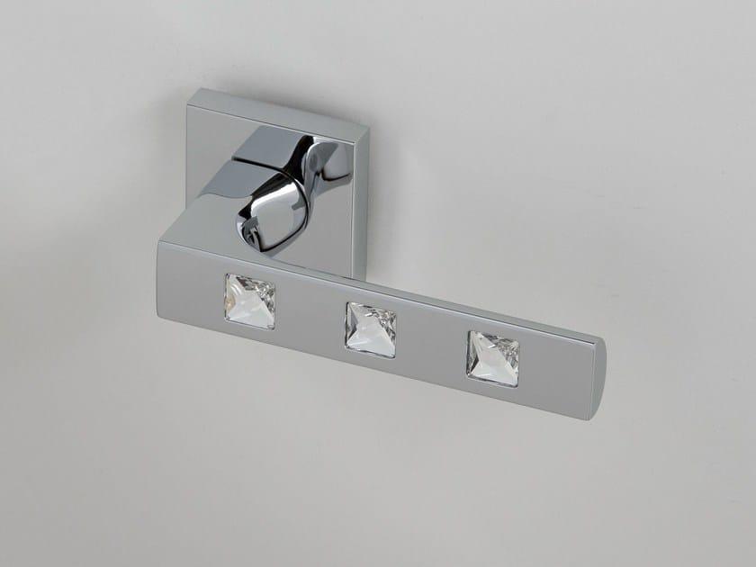 Door handle on rose polished chrome KING | Door handle by Frascio