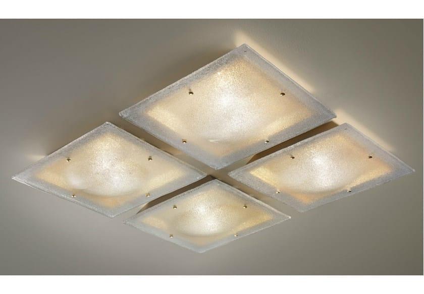 Glass ceiling light SOFFIO PL by Vetreria Vistosi