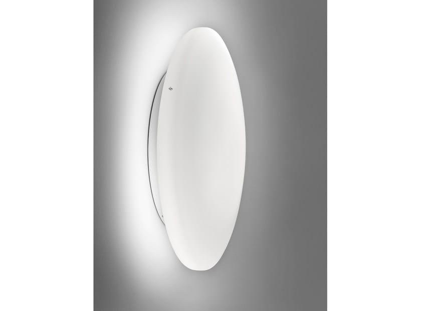 Satin glass wall light SOFT AP by Vetreria Vistosi