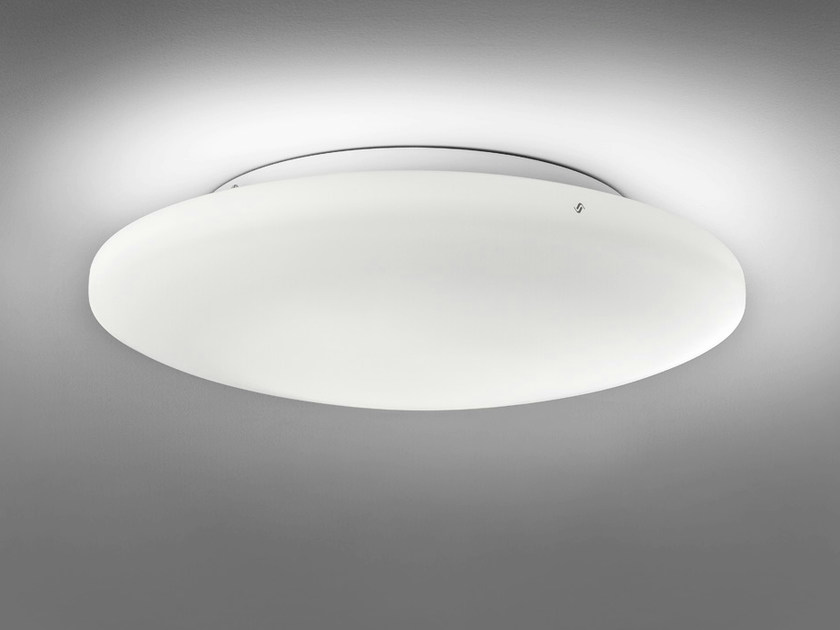 Satin glass ceiling light SOFT PL by Vetreria Vistosi