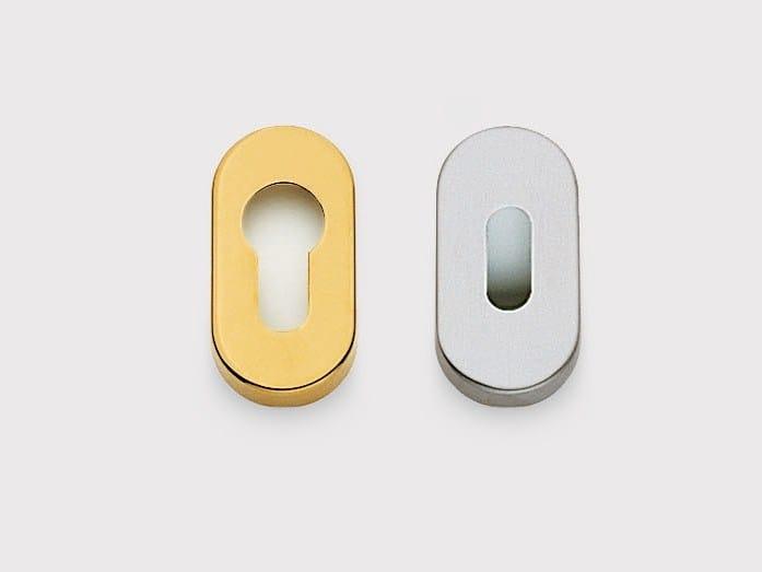 Oval keyhole escutcheon 32 PO by Frascio
