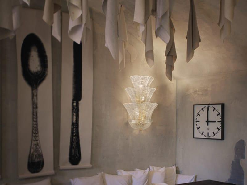 Glass wall lamp SAN GIORGIO AP 15FP by Vetreria Vistosi