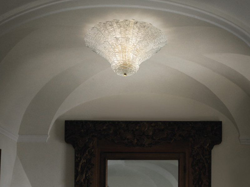 Glass ceiling lamp SAN GIORGIO PL 46FP by Vetreria Vistosi