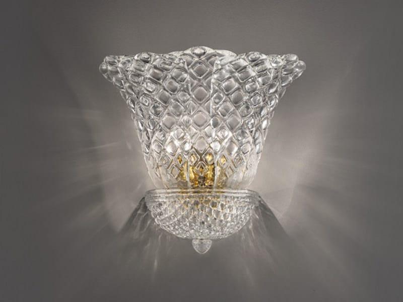 Glass wall lamp SAN MARCO AP 5F G by Vetreria Vistosi