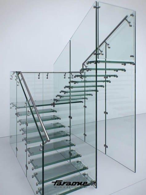 Escalier ouvert en acier inoxydable et verre mathis by - Escalier ouvert ...