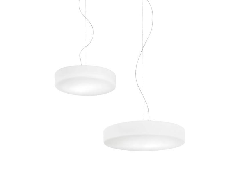 Satin glass pendant lamp SOGNO SP by Vetreria Vistosi