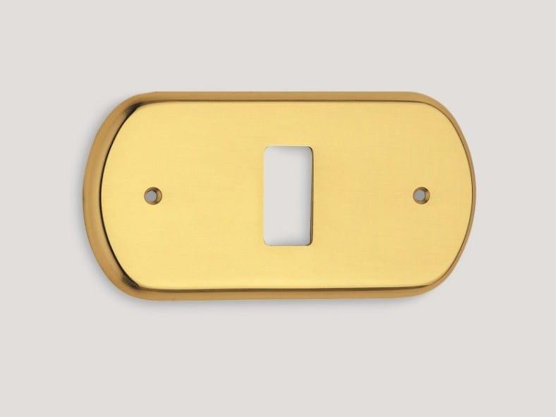 Brass wall plate 978 | Wall plate by Frascio