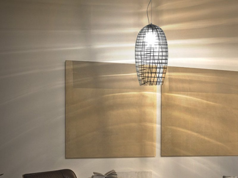 Glass pendant lamp YUBA SP 26 by Vetreria Vistosi