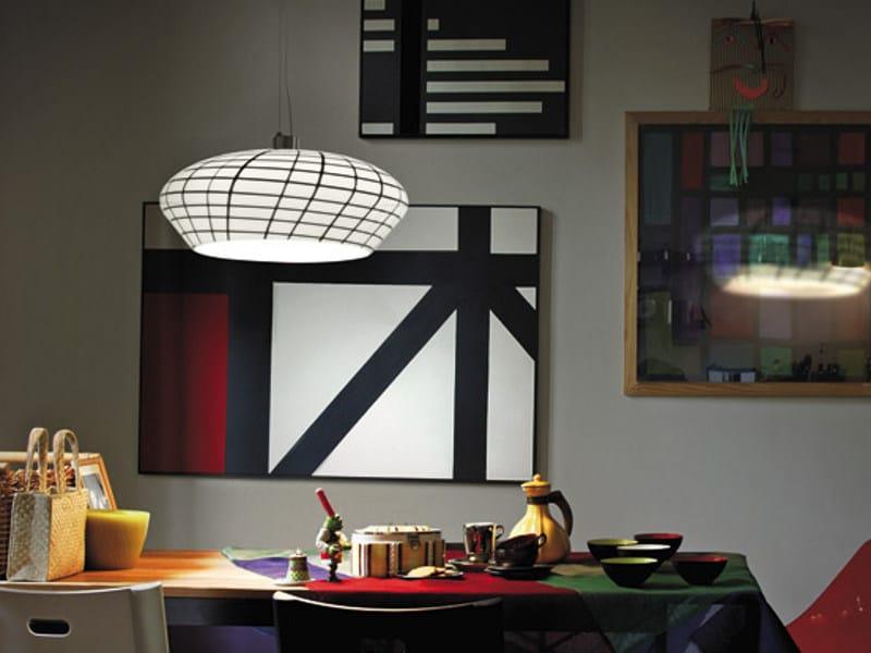 Glass pendant lamp YUBA SP 45 by Vetreria Vistosi