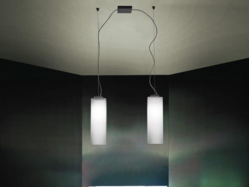 Blown glass pendant lamp TUBES SP D2 by Vetreria Vistosi