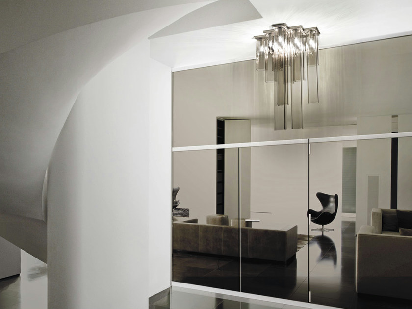 Blown glass ceiling lamp TUBES PL 15 by Vetreria Vistosi