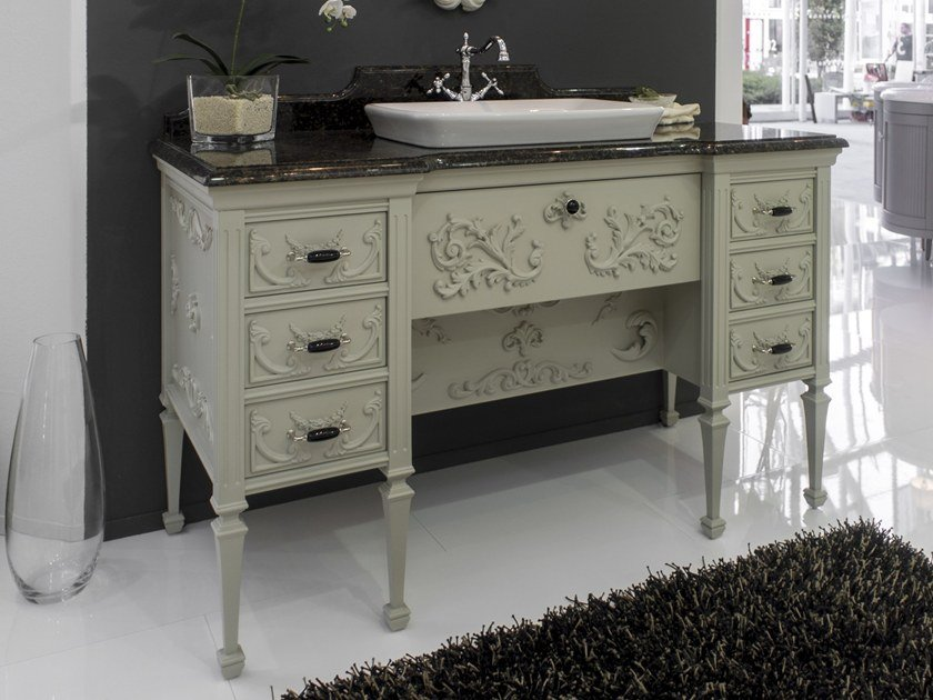 Lacquered vanity unit with drawers ROYAL | Vanity unit by BLEU PROVENCE