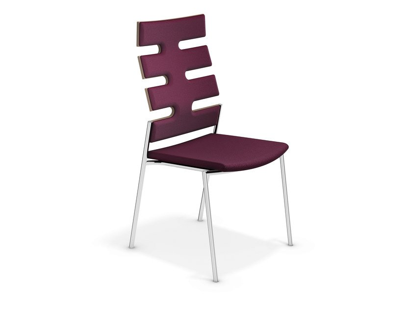 High-back fabric chair KEEP MOVING | High-back chair by Casala