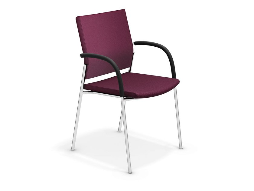 Upholstered chair with armrests KEEP MOVING   Chair with armrests by Casala