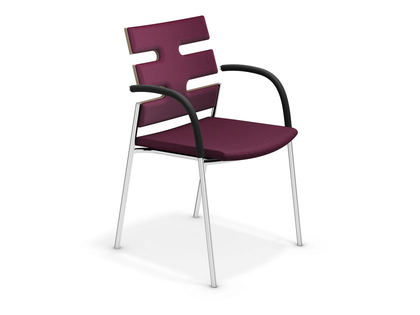 Upholstered chair with armrests KEEP MOVING | Chair with armrests by Casala