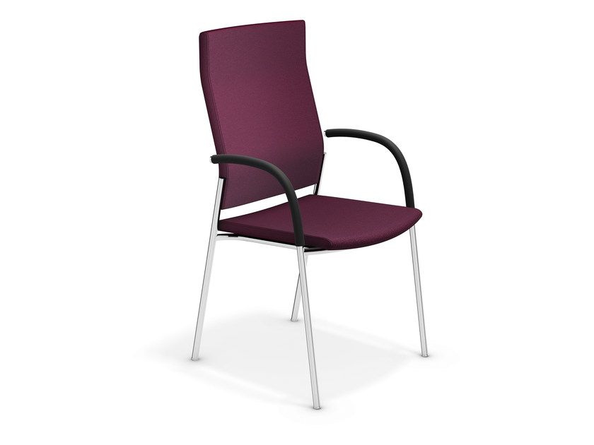 High-back chair with armrests KEEP MOVING   High-back chair by Casala