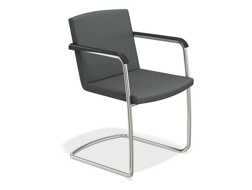 Cantilever chair with armrests LEON | Cantilever chair by Casala
