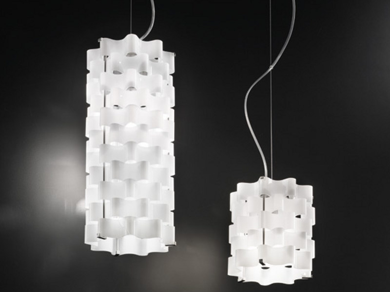 Glass pendant lamp TAHOMA SP by Vetreria Vistosi