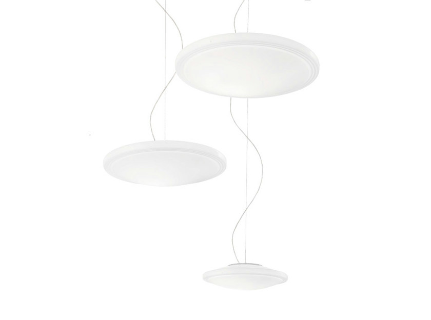 Satin glass pendant lamp STYLE SP by Vetreria Vistosi
