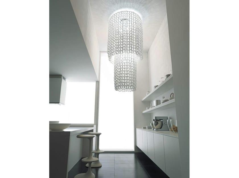 Crystal ceiling lamp GIOGALI PL CA2 by Vetreria Vistosi