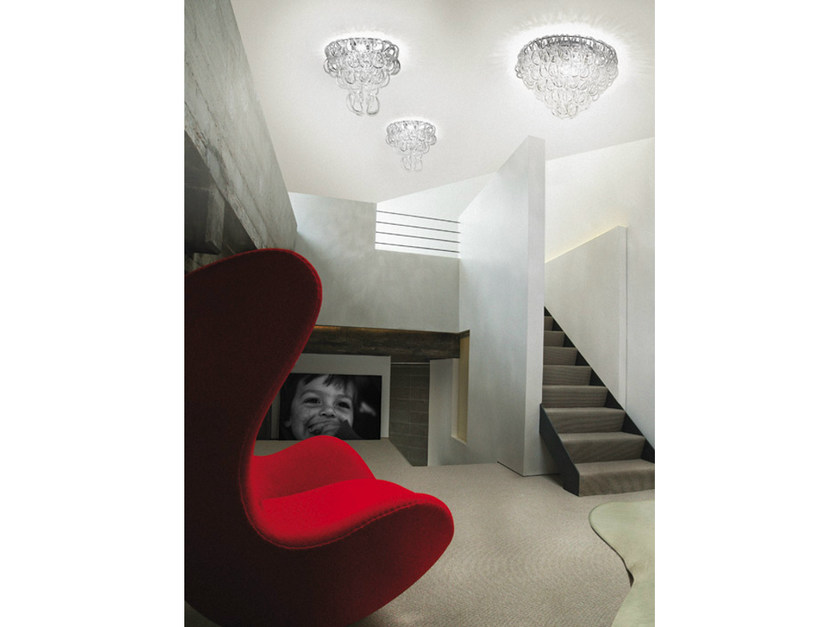 Crystal ceiling lamp GIOGALI PL by Vetreria Vistosi