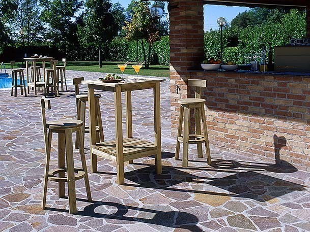 Square wooden high table RITROVO | High table by Legnolandia
