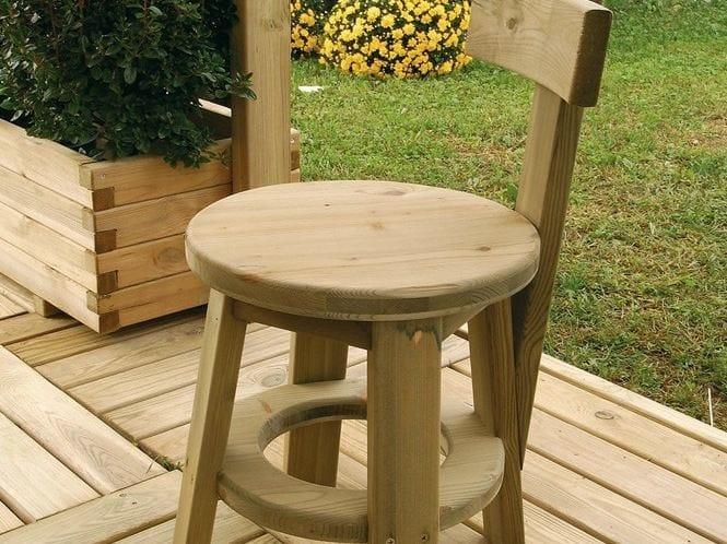 Ritrovo sgabello basso by legnolandia