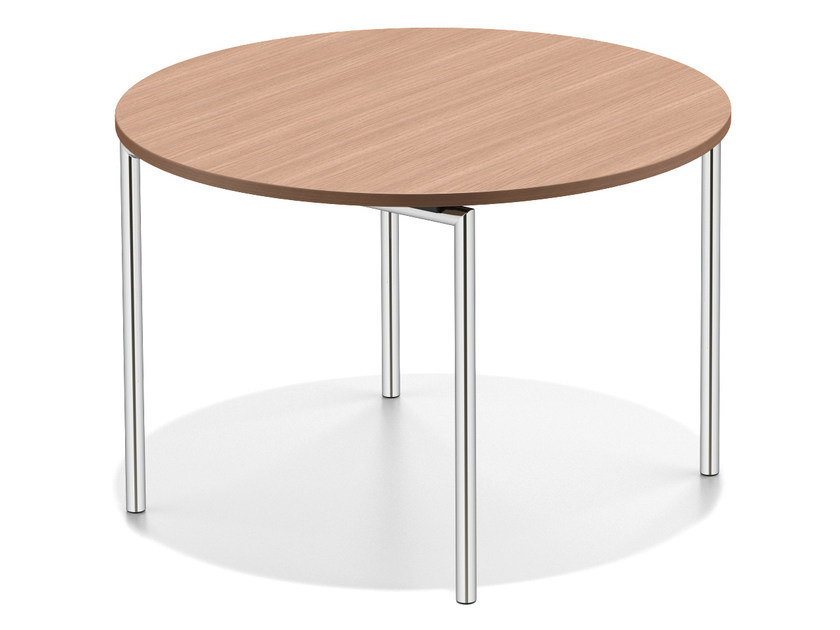 Round wooden table LACROSSE II | Round table by Casala