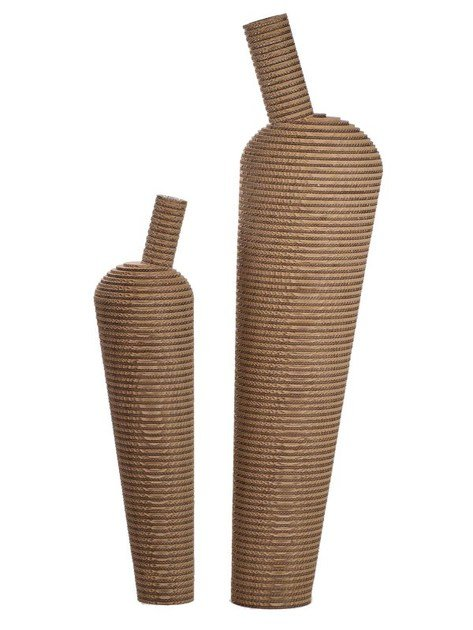 Kraft paper vase AMPHORA by Staygreen