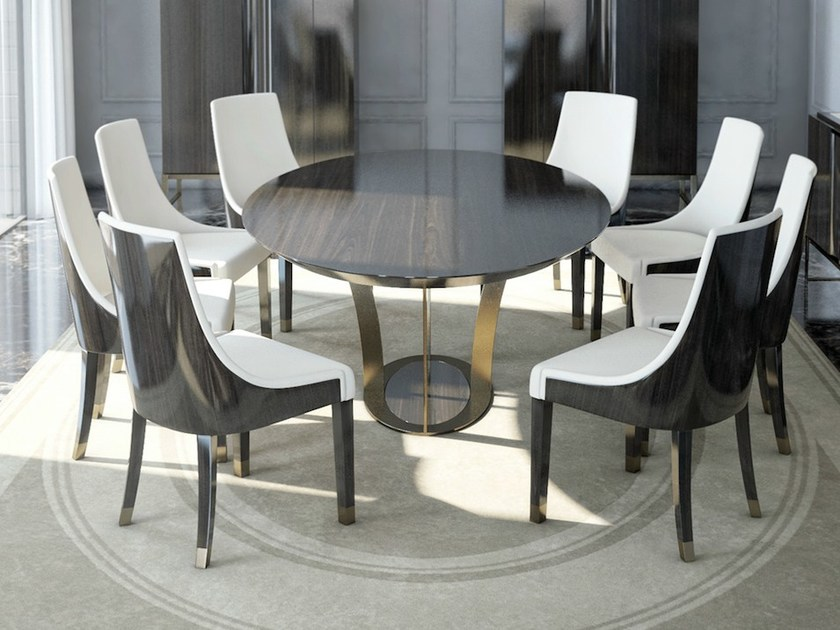 Round wooden dining table PARIS | Dining table by HUGUES CHEVALIER