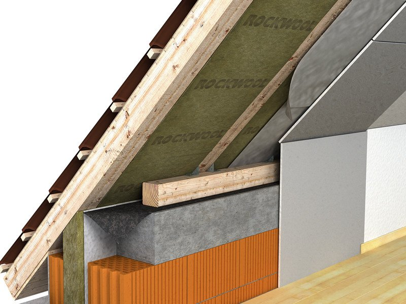 Thermal insulation panel / Sound insulation and sound absorbing panel in mineral fibre Pannello 220 by Rockwool Italia