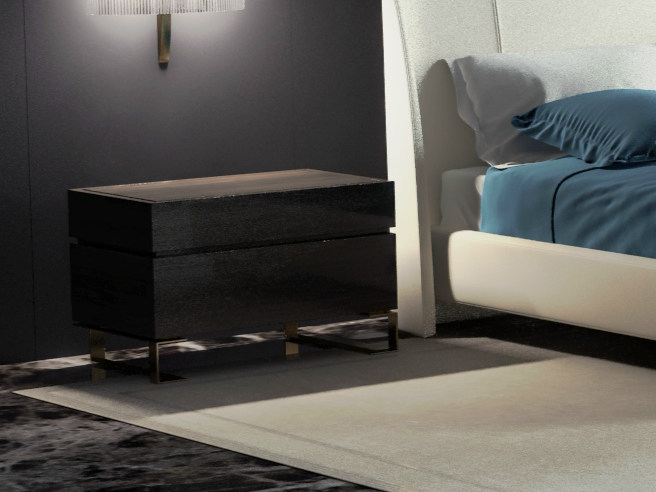 Wooden bedside table PARIS | Bedside table by HUGUES CHEVALIER