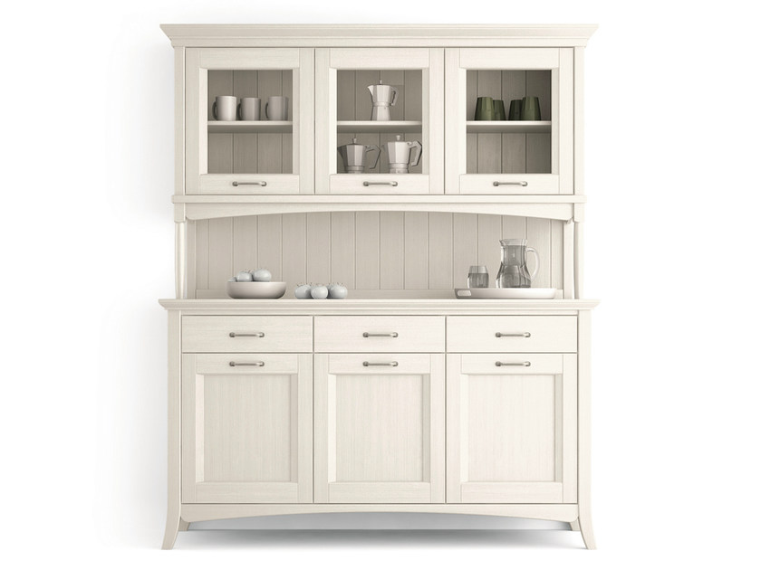 Wooden highboard with doors with drawers ARCANDA | Highboard with doors by Scandola Mobili