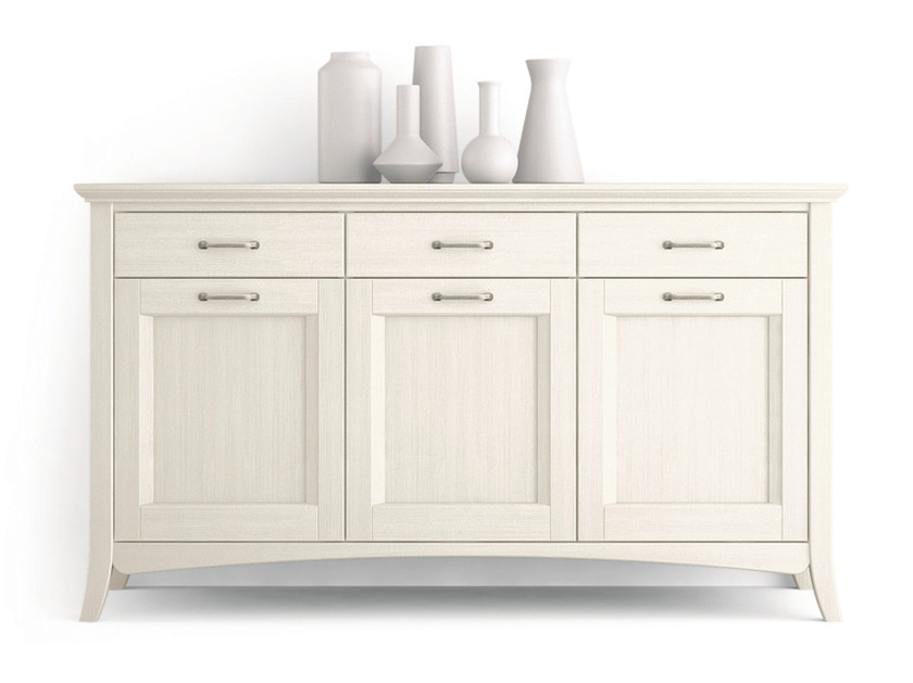 Wooden sideboard with doors with drawers ARCANDA   Sideboard with doors by Scandola Mobili