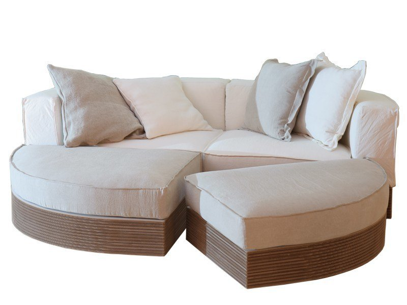 Sectional kraft paper sofa SCACCOMATTO by Staygreen