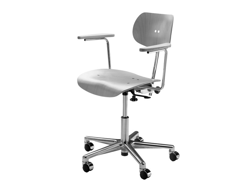 Height-adjustable task chair S 197 R | Task chair with armrests by WILDE+SPIETH