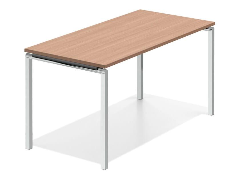 Rectangular rectangular wooden bench desk LACROSSE V | Rectangular table by Casala