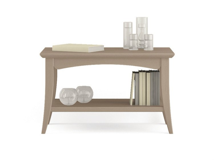 Rectangular wooden coffee table with integrated magazine rack for living room ARCANDA | Coffee table for living room by Scandola Mobili