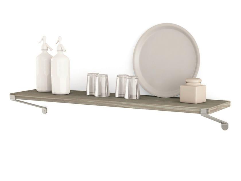 Spruce wall shelf Shelf with supports by Scandola Mobili