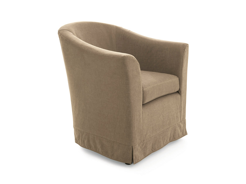 Fabric armchair with armrests VITTORIA by Scandola Mobili