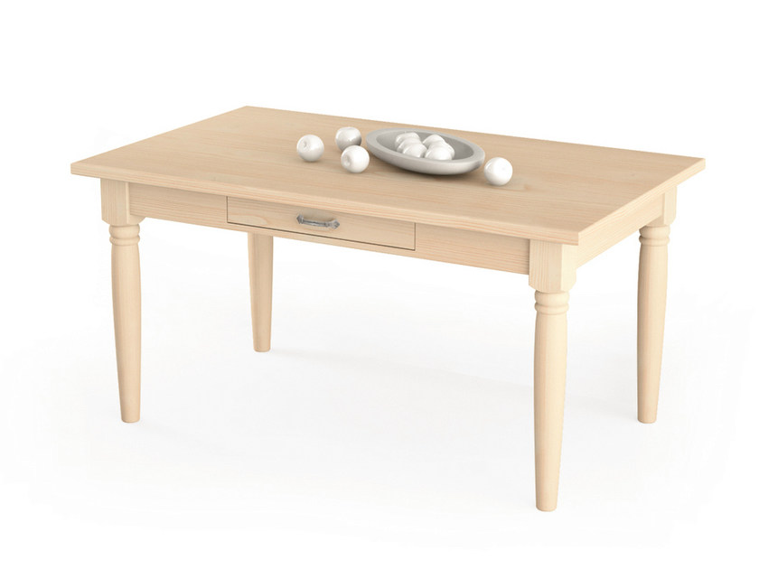 Rectangular wooden table with drawers Table with drawers by Scandola Mobili