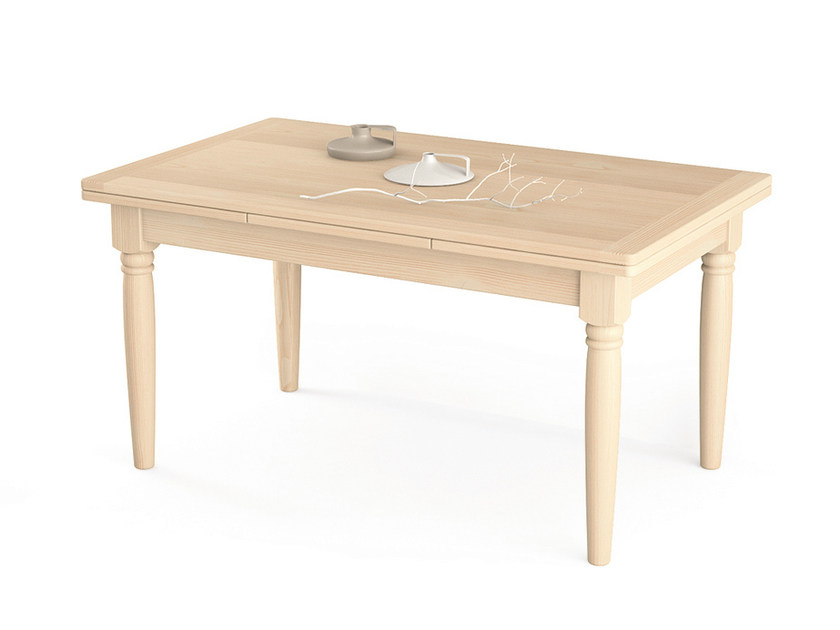 Extending rectangular wooden table Extending table by Scandola Mobili