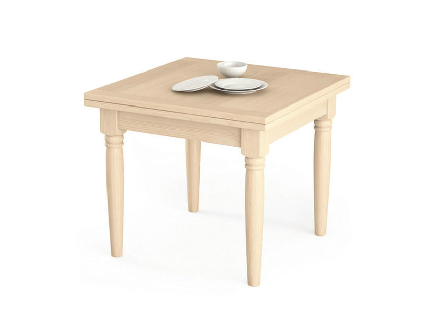 Extending square wooden table Square table by Scandola Mobili